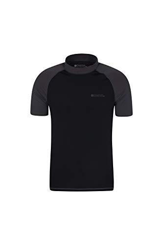 Mountain Warehouse UV-Badeshirt für Herren - Schwimmshirt mit UPF50+, schnelltrocknend, Flache Nähte UV Shirt - Ideal für Schwimmen und Tragen unter einem Schwimmanzug Dunkelgrau Medium