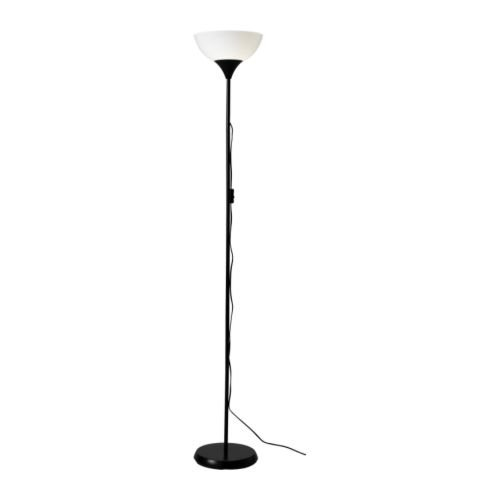Ikea 101.398.79 69-Inch. Floor Uplight Lamp, Black & White