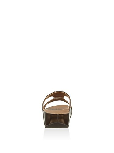 Fitflop Sandalo Pietra II Slide Chocolate Brown Cioccolato