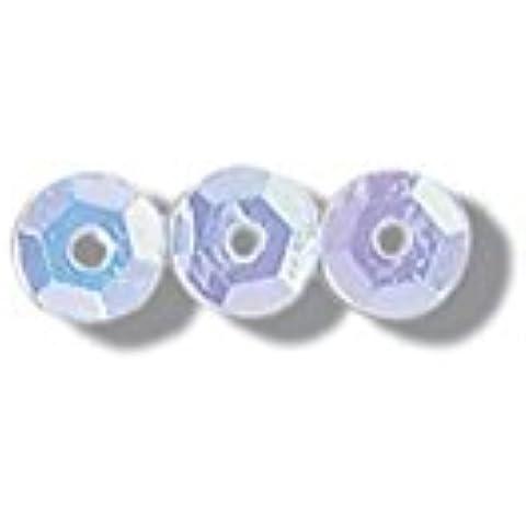 Paillette da 5 mm, colore: Bianco Iris