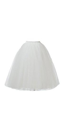 Honeystore Damen's Lang Ballet Petticoat Abschlussball Party Zubehör Tutu Unterkleid Rock Weiß XXL