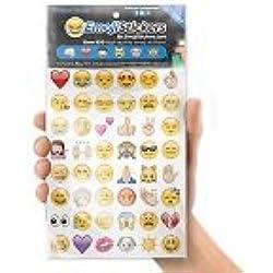 Boxer ST1002 - Pegatinas con diseño de emoji (19 láminas), multicolor