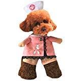 tze Krankenschwester Kostüm Halloween Cosplay Party Outfit Kostüm für Kleine Hunde und Katze, S ()
