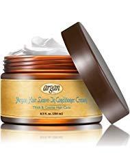 Vitamins Arganöl Leave In Conditioner - Haarpflege für Strapaziertes Dickes & Afro Haar - Feuchtigkeitsspendene Antifrizz Haarcreme