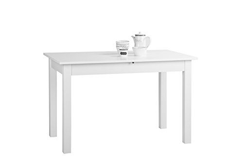 Inter Trade 1285 Table de salle à manger Extensible Bois Blanc 120 x 70 x 76,5 cm