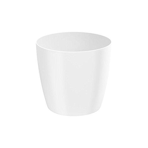 Classique luisant cache-pot LOBELIA, 16 cm, en blanc