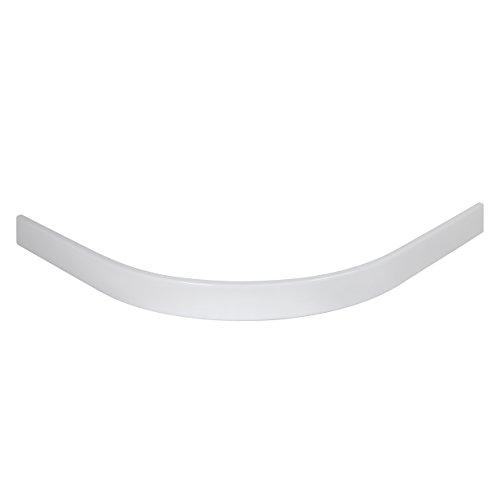 Schulte Schürze für Duschbecken extra-flach 80x80 cm Sanitär-Acryl Radius 550 Catania,  1 Stück,  alpinweiß, 4004514129000