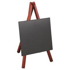 Deflect-o Minimkr Securit Chevalet Tableau à table, 5 x 7/8 x 5 3/8 x 9 1/2, cadre en bois d'acajou (Defminimkr)
