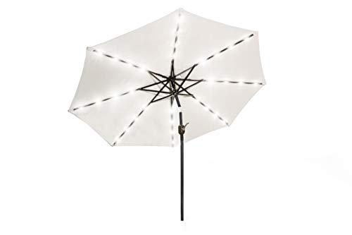 909 OUTDOOR Parasol de Jardin | Grand Parasol avec LED | Parasol Exterieur Disponible en 2 Coloris (Crème)
