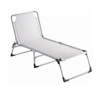 Jan Kurtz Amigo XXL Chaise longue en aluminium et textilène (fibres de polyester gainées de PVC) imperméable et anti-UV Blanc