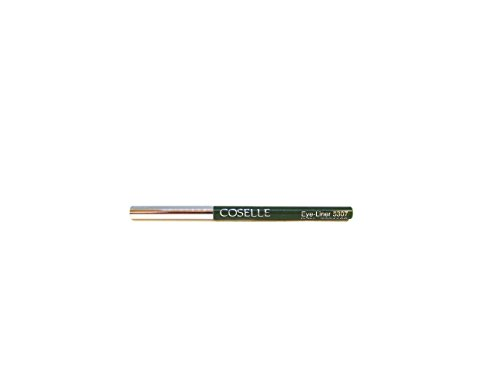 Coselle Eyeliner in verschiedenen Farben, sehr weich, gut haftend, wasserfester Drehstift, kein Anspitzen, Made in Germany! (Grün)