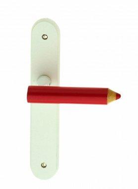 Poignée de porte intérieure pour chambre d'enfant avec levier de crayon