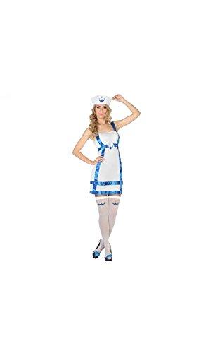 Mela Proibita - Kostüm von Halloween Karnevalskostüm Seemann Kleid Frau sexy Cosplay - weiß, ml