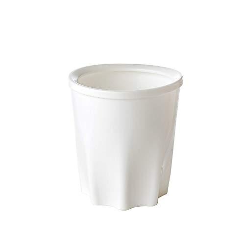 syeytx Poubelle créative avec anneau de pression Cuisine de salle de bains à usage domestique avec poubelle en plastique à couvertures multiples Armoires de rangement de grande taille La corbeille (A)
