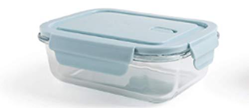 Lunchbox aus gehärtetem Glas 12,3 * 17 * 6 cm, Kontrolle Lunch Container, vorratsdosen glas, Frischhaltedosen zum Vorbereiten (Office Glas Lunch-box)
