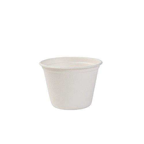 BIOZOYG Umweltfreundliche Suppenbecher aus Zuckerrohr I 50 Stück 450 ml Einwegbecher Einmalbecher Wegwerfbecher I Bio Einweggeschirr Becher biologisch abbaubar, kompostierbar