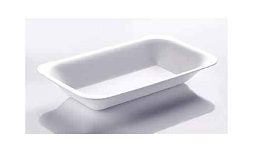 THALI Outlet Leeds-500x Weiß Schaumstoff Chip Shop Tabletts für Takeaway Chippy Dekokatze Fast Food CT2/C2-500PK mittel Größe Chip-(Medium/CT2/C2)