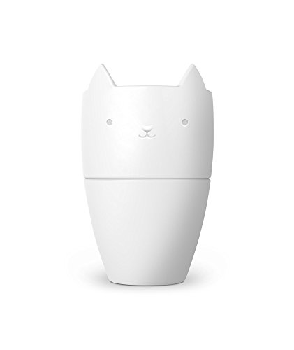 Fred 5229133 Purr Over Cat-Style Porcelain Pour Over Coffee Brewer, White -