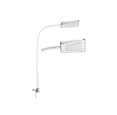 Gedotec LED-Lampe Arbeitsplatz Nachttisch-Lampe Schlafzimmer Schreibtisch-Lampe Licht - H3211 | 12 V | mit integriertem Tastschalter | Kunststoff weiß | 1 Stück