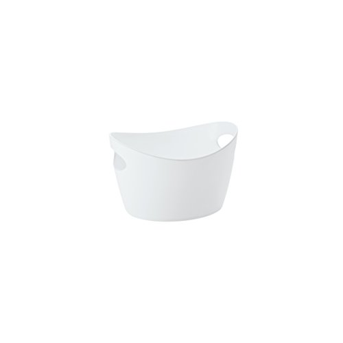 Koziol 5734525 Cache-Pot, Plastique, Blanc, 28 x 28 x 18 cm