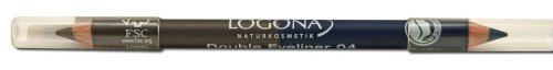 LOGONA Naturkosmetik Double Eyeliner Pencil No. 04 Steel Grey, Stahlgrau+Dunkelblau, Zweifacher...