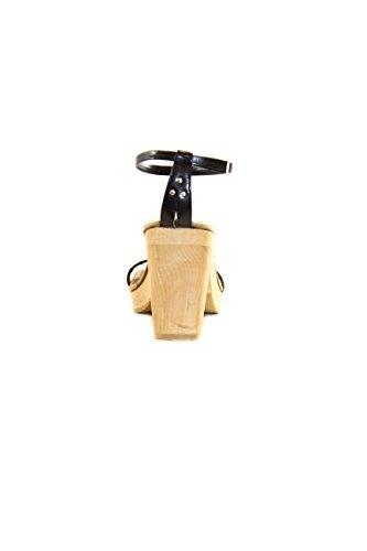 Replay scarpa con tacco e allacciatura sulla caviglia. Nero