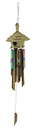 Chesapeake Bay Bambus-Windspiel Tropische Tiki Hütte Vogelhaus Bambus Windspiel 15,2 x 71,9 x 15,2 cm, Mehrfarbig