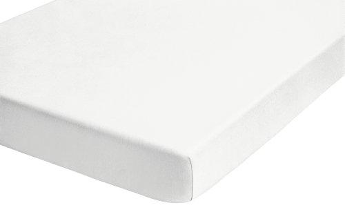 Biberna 12344/001/040 - Coprimaterasso elastico in spugna 180 x 200 cm - 200 x 200 cm bianco