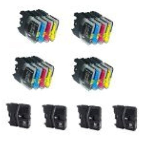 Bramacartuchos - 20 X Cartuchos compatibles NON OEM BROTHER LC985, DCP J125, DCP J315W, DCP J515W, DCPJ125, DCPJ315W, DCPJ515W Brother MFC J265W, MFC J410, MFC J415W, MFC J220, MFCJ265W, MFCJ410, MFCJ415W, MFCJ220, Lc 985,