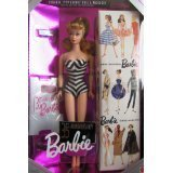 MATTEL BARBIE poupée blonde ORIGINAL 1959 BARBIE DOLL & PACKAGE special edition reproduction 35th anniversaire - 1993