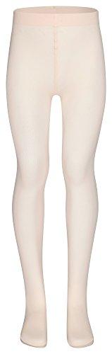 tanzmuster Kinder Ballett Strumpfhose 'Lena' mit Fuß und ohne Zwickel in rosa-apricot - hoher Tragekomfort durch das sehr weiche und hoch elastische Material