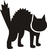 Eulenspiegel 106556 - Selbstklebe Schablone - Katze