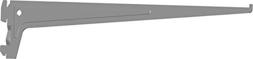 Element System PRO-Träger Regalträger 1-reihig, 2 Stück, 7 Abmessungen, 3 farben, lange 40 cm für Regalsystem, Wandschiene, weißaluminium, 18133-00017