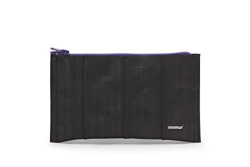 Unisex Kupplung schwarz und violett. Reißverschluss Beutel. Veranstalter Tasche/Reise Tasche/Handtasche/Clutch aus Fahrradschlauch Upcycling/Recycling (Violetta Handtasche)