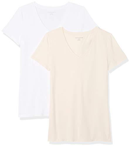 Amazon Essentials Wae45055sp18 Maglie Premaman, Rosa (Peach/White), US S (EU S-M)
