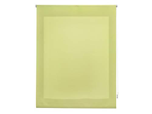 FirstlineGo Estor Enrollable traslúcido Liso Pistacho 120 X 175 cm