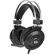 Redragon H991Triton Wired aktiver Geräuschunterdrückung Gaming Headset, 7.1Channel Surround Stereo ANC über Ohr Kopfhörer mit Mircophone, Leder in-Ear, mit USB-Port, funktioniert für PC, Notebook Audio Pc Headset Speaker Switch