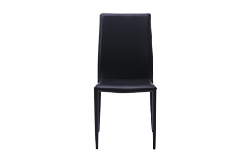Sedie Sala Da Pranzo Ecopelle : Sedie moderne nere in ecopelle per arredamento sala da pranzo e