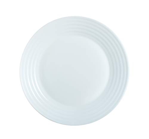 Luminarc 8013638 Harena Assiette de Dessert Diamètre 19 cm Opale Blanc 1 unité
