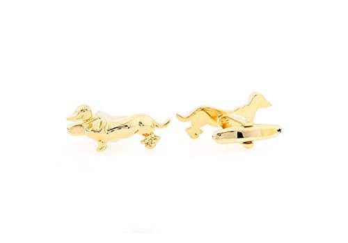 Epinki Manschettenknöpfe aus Kupfer, Tier Design Manschette Links Knöpfe für Hochzeit Dackel
