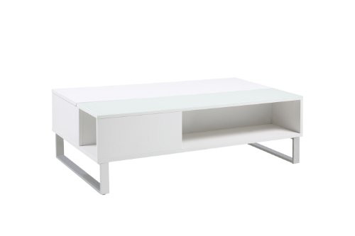 AC Design Furniture 0000049942 Nicolai Table Basse Bois Blanc 110 x 60 x 35 cm