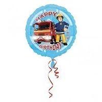 "Fireman Sam New Happy Birthday Round Foil Balloon : - 17 "" (43 cm) diam"