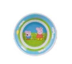 GIRM-123171-Piatto-fondo-in-plastica-per-la-pappa-del-bambino-PEPPA-PIG-Scodella-per-la-pappa-del-bambino-in-melamina-Piatto-per-feste-a-tema-per-bambini