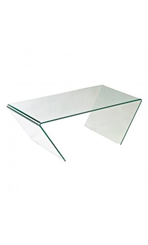 CAMINO A CASA - Table Basse Design Verre Transparent Trapezium