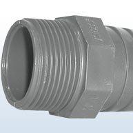 Douille de tuyau en PVC à filetage extérieur 30 mm / 1\