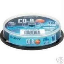 Sony 700 MB 10 pack blank CD