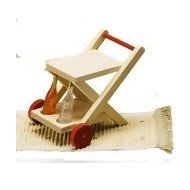 Rülke Holzspielzeug 22257 - Carrello portavivande Rustikal