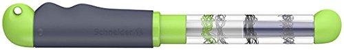 Schneider Base Kid Füller (Rechtshänder, Anfängerfeder, große Fingerflächen) grau-grün