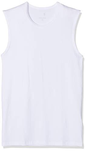 Seidensticker Herren Tank Top T-Shirt Rundhals Ärmellos Uni Unterhemd, (Weiß 1), Medium -