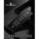 Real Full Capacity Battery Replacement for Original Apple iPhone SE/6/6S/7/8 Plus X TechValue